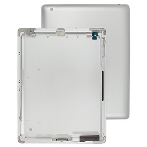 Back Cover for Apple iPad 4 Tablet, (silver, (version Wi-Fi))