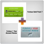 Furious 1 Year Account Renew + Furious Gold Pack 7