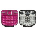 Keyboard Nokia C3-00, (pink, english)
