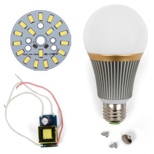 Комплект для сборки светодиодной лампы SQ-Q23 9 Вт (холодный белый, E27)