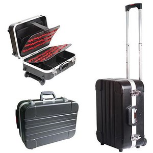 Большой кейс Pro'sKit TC-311 из твердого пластика (ABS) на колесиках и с телескопической ручкой