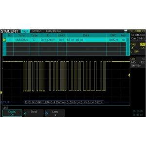 Програмне забезпечення SIGLENT SDS-1000X-DC для декодування IIC, SPI, UART/RS232, CAN, LIN