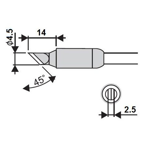 Soldering Iron Tip Goot RX 85HSRT 4.5K