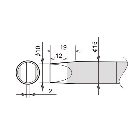 Soldering Iron Tip Goot RX 89HRT 10D